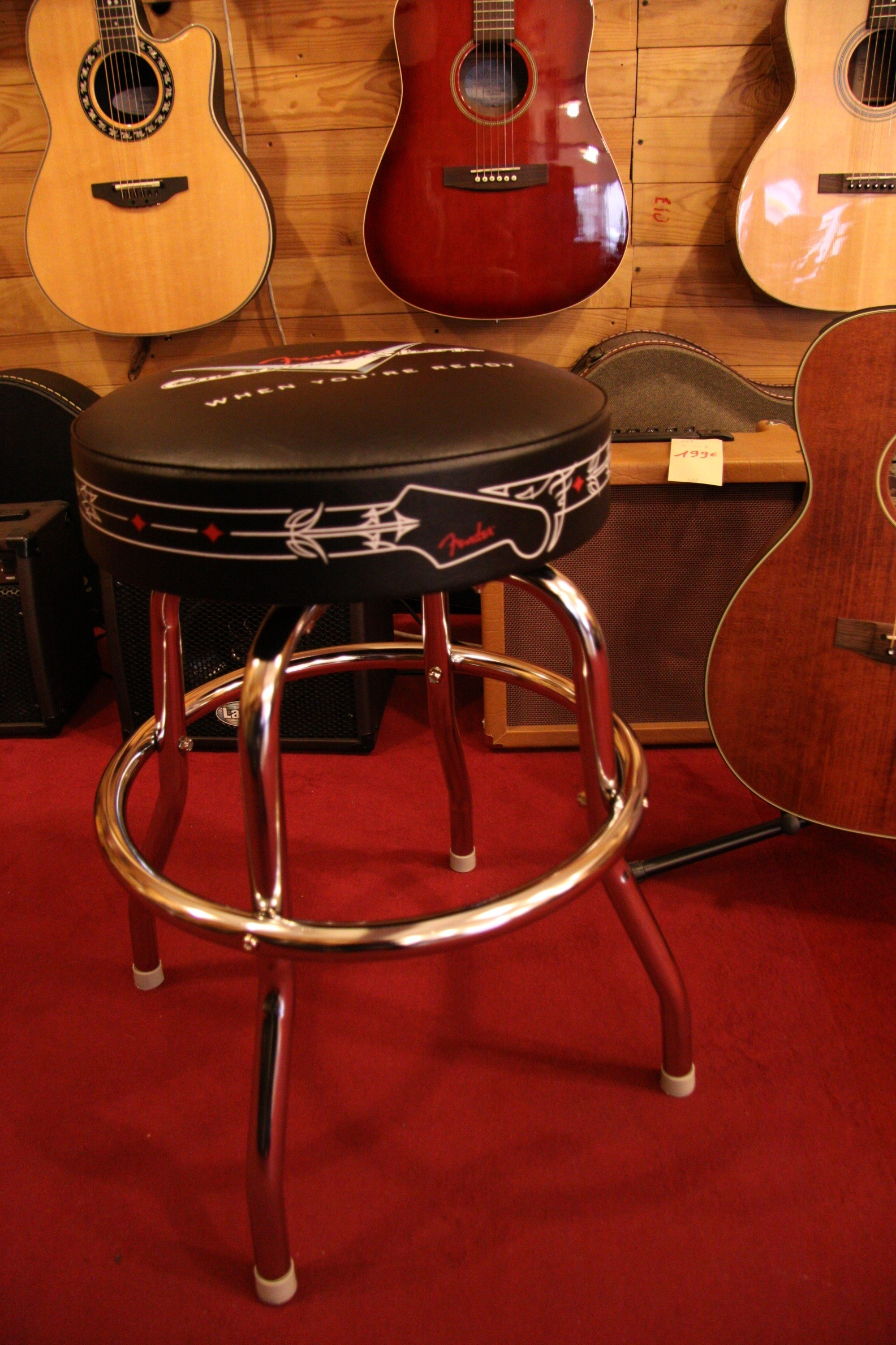 Tabouret Fender Custom Shop Rockshop Magasin De Guitares A